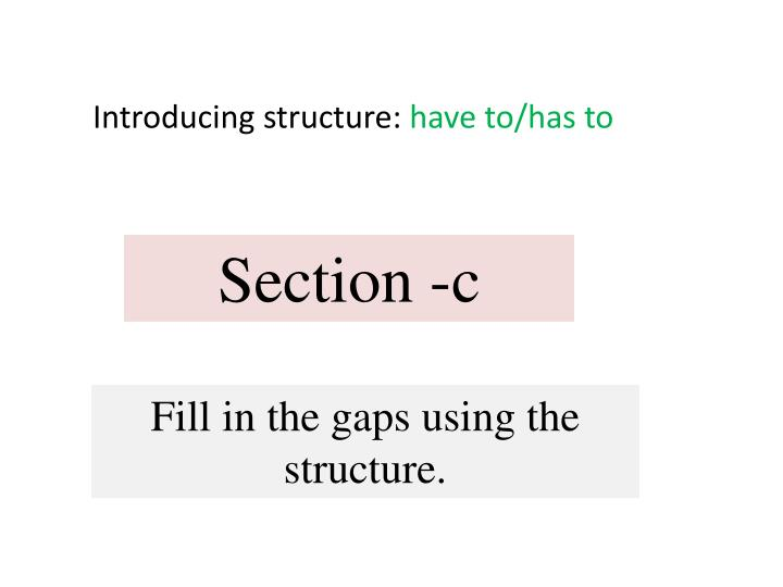 Introducing structure: