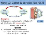 note 10 goods services tax gst1