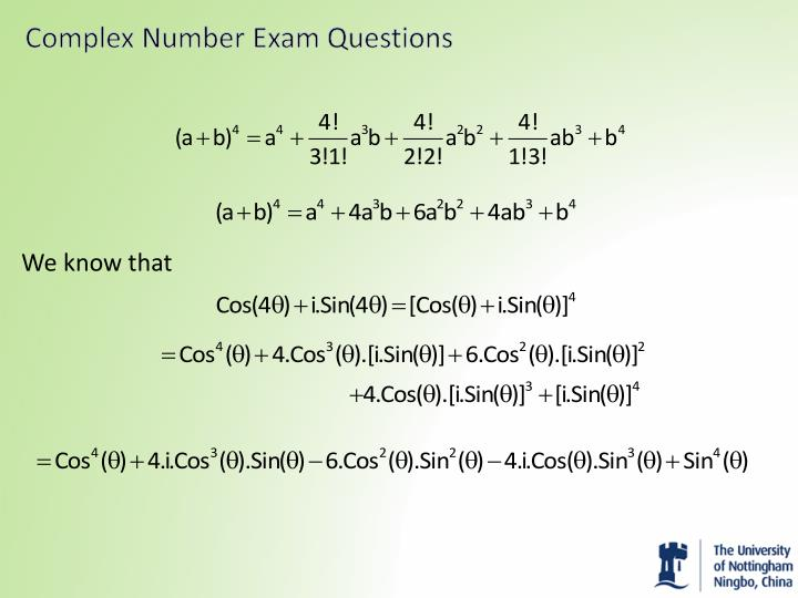 Complex Number Exam Questions
