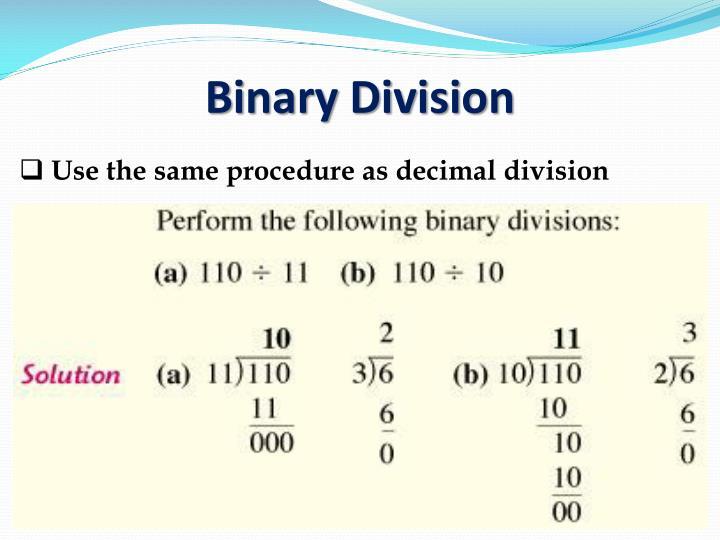 Binary Division