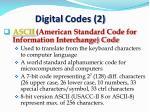 digital codes 2