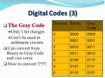 digital codes 3