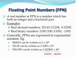 floating point numbers fpn