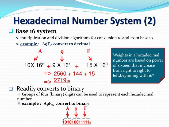 Hexadecimal Number System (2)