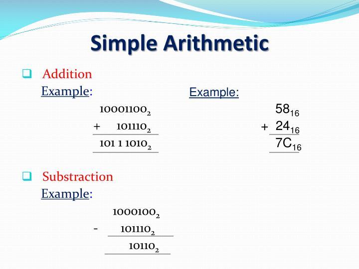 Simple Arithmetic