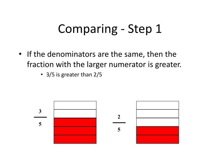 Comparing - Step 1
