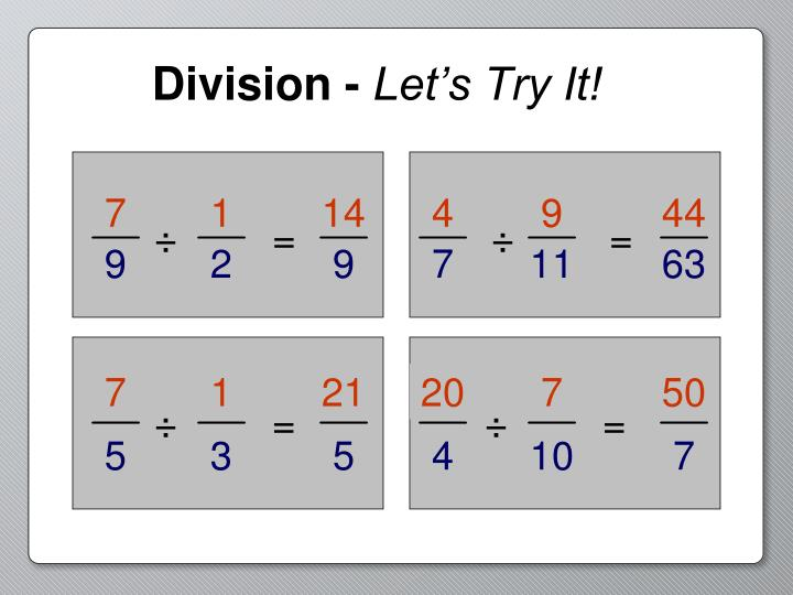 Division -