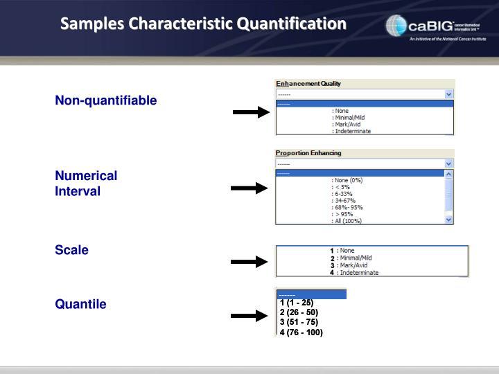 Samples Characteristic Quantification