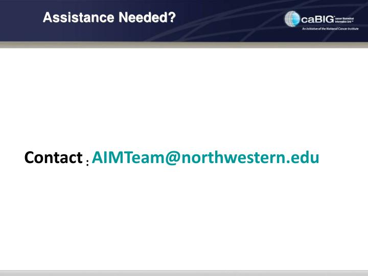 Assistance Needed?