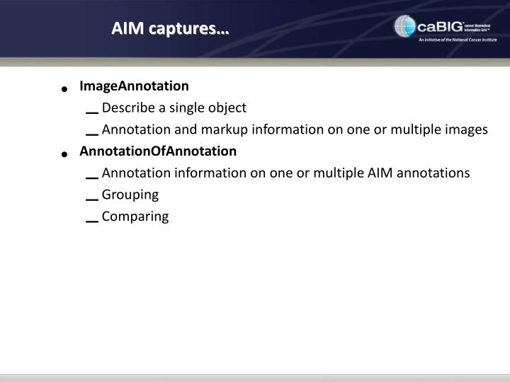 AIM captures…