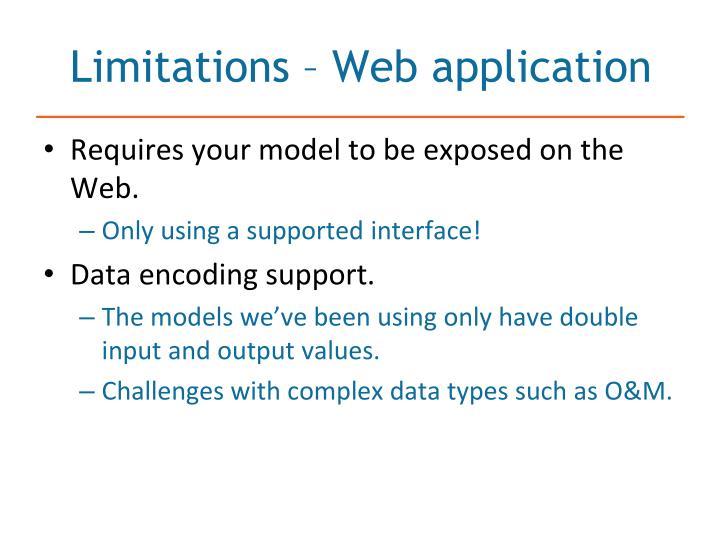 Limitations – Web application