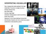 interpreting vocabulary