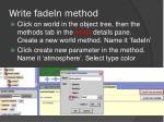 write fadein method