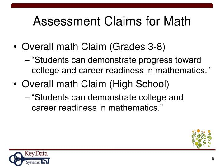 Assessment Claims for Math