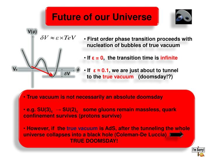 Future of our Universe