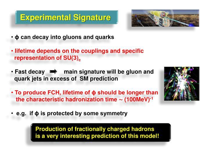 Experimental Signature