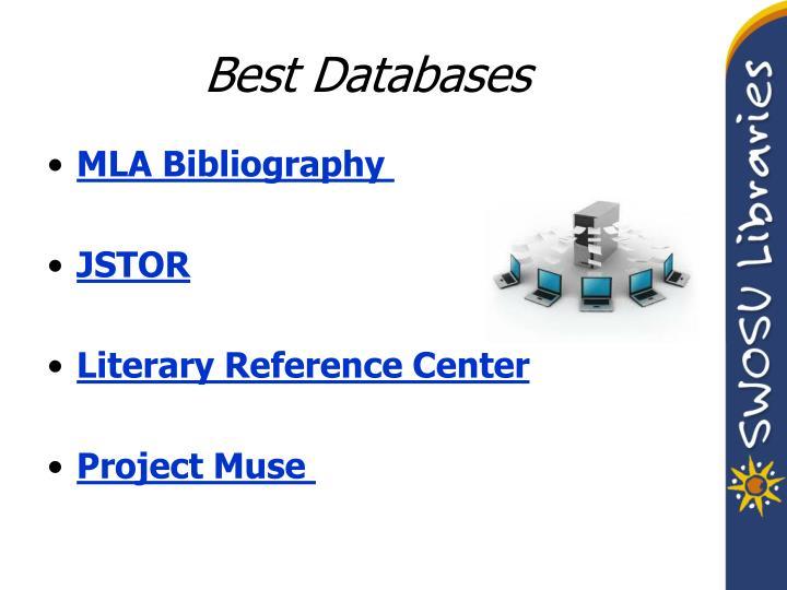 Best Databases