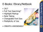 e books ebrary netbook