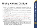 finding articles citations