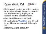 open world cat