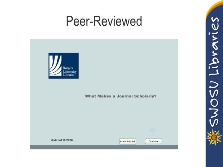 Peer-Reviewed
