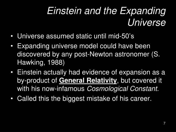 Einstein and the Expanding Universe