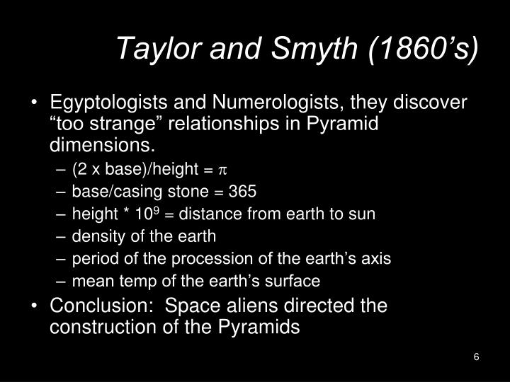 Taylor and Smyth (1860's)
