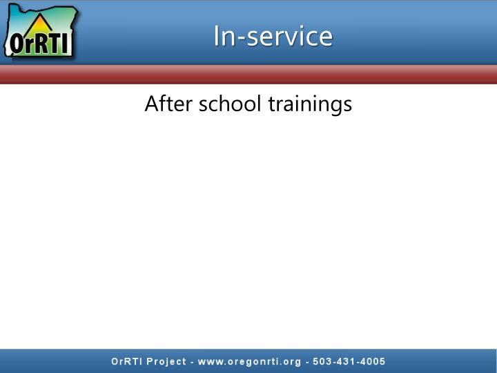 In-service