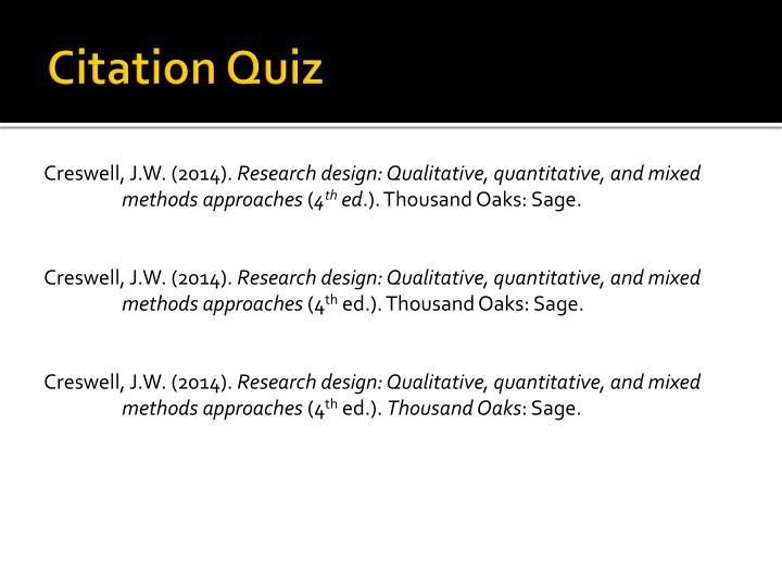 Citation Quiz