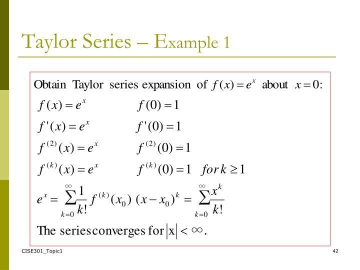 Taylor Series – E