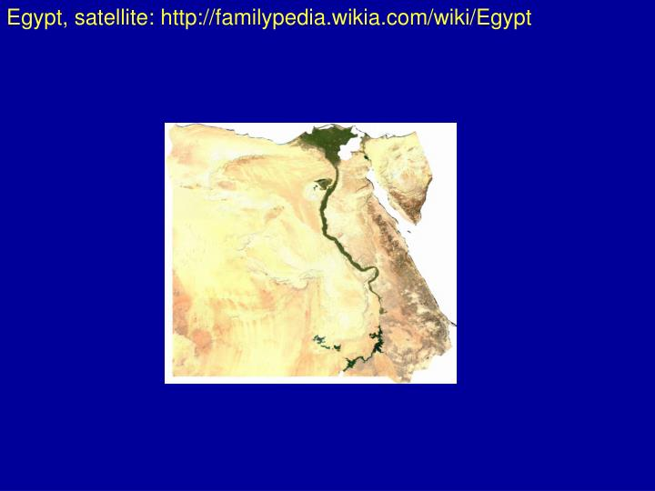 Egypt, satellite: http://