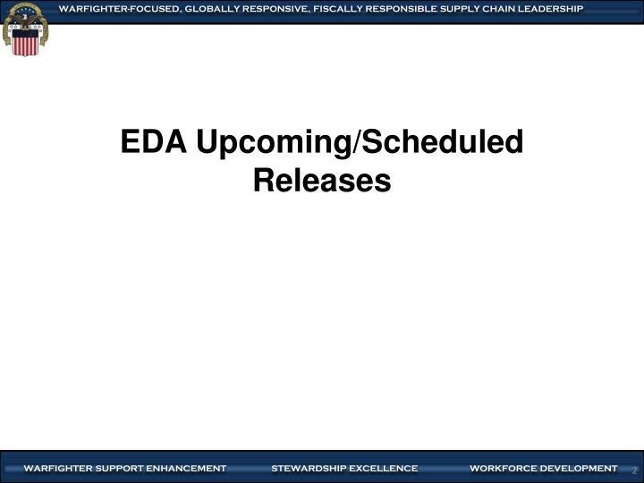 EDA Upcoming/Scheduled