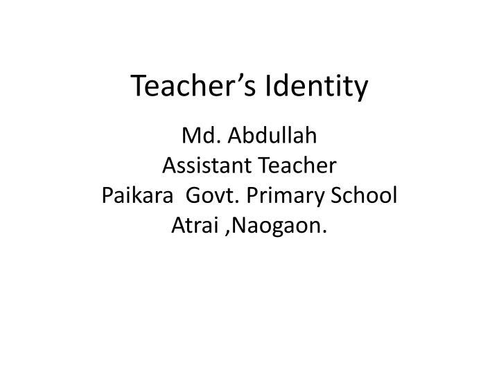 Teacher's Identity