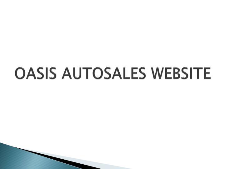 OASIS AUTOSALES WEBSITE