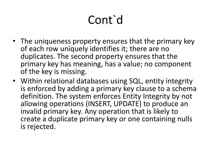 Cont`d