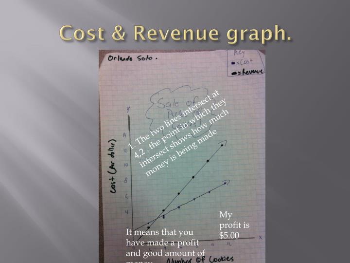 Cost & Revenue graph.