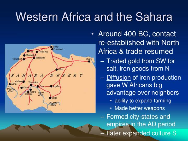 Western Africa and the Sahara