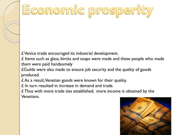 Economic prosperity