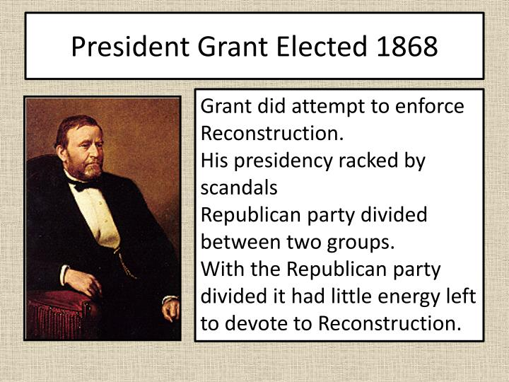 President Grant Elected 1868