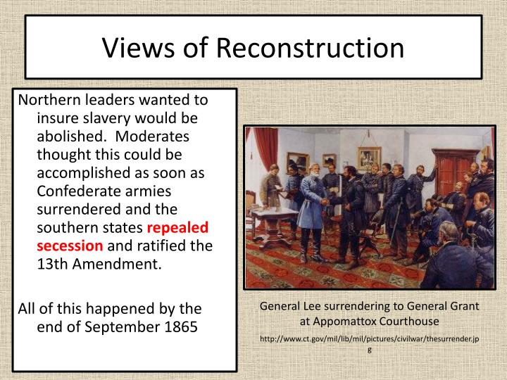 Views of Reconstruction