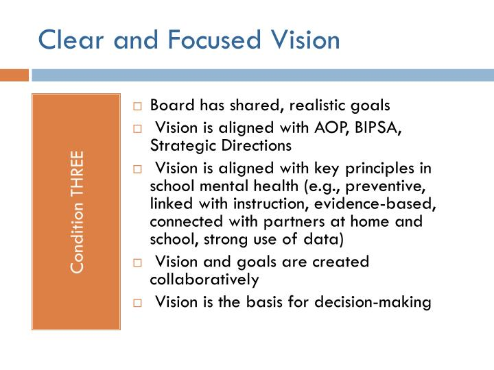 Clear and Focused Vision