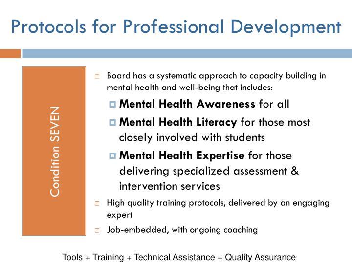 Protocols for Professional Development