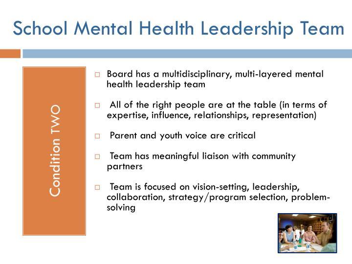 School Mental Health Leadership Team