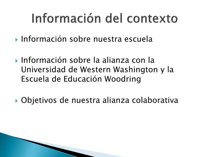 Información del contexto