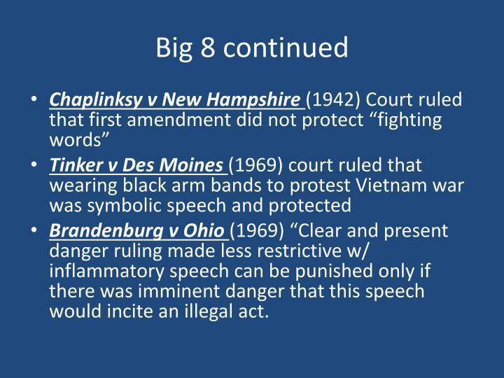 Big 8 continued