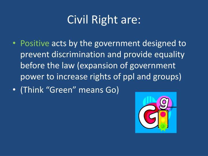 Civil Right are: