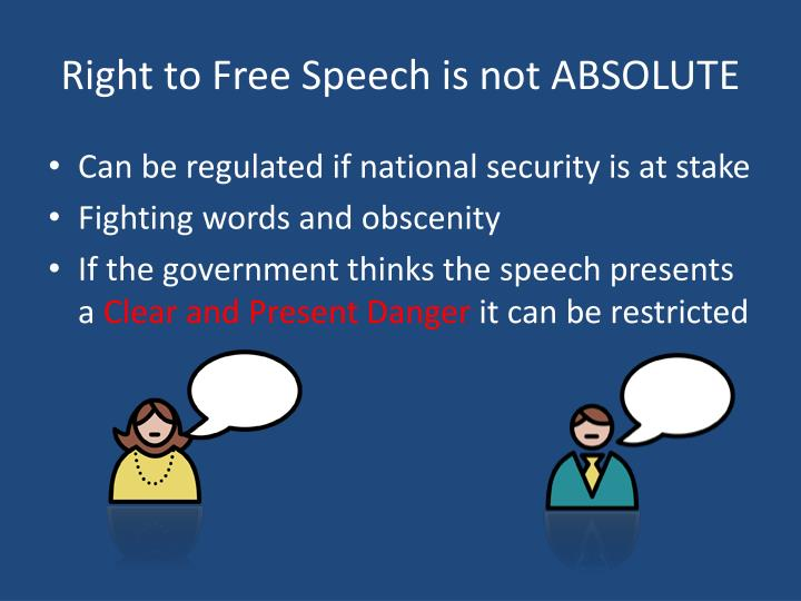 Right to Free Speech is not ABSOLUTE