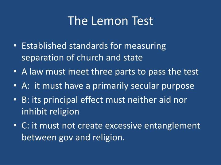 The Lemon Test