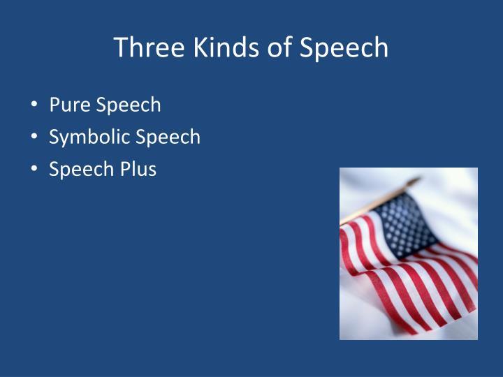 Three Kinds of Speech