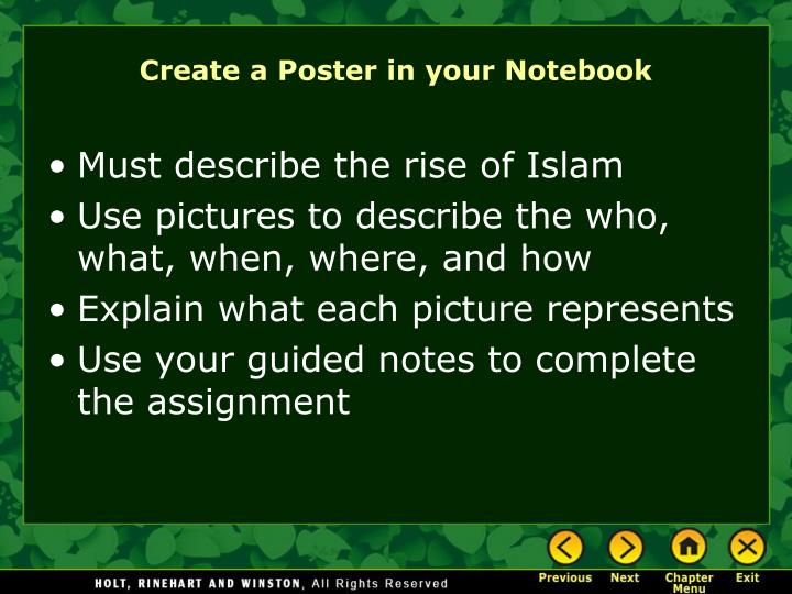Create a Poster in your Notebook